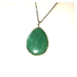 Francesca's emerald green precious stone necklace